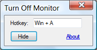 Turn Monitor Off v2 Screenshot