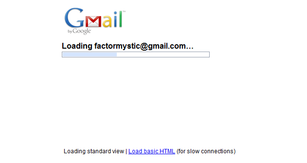 Gmail Loading Screen (After)