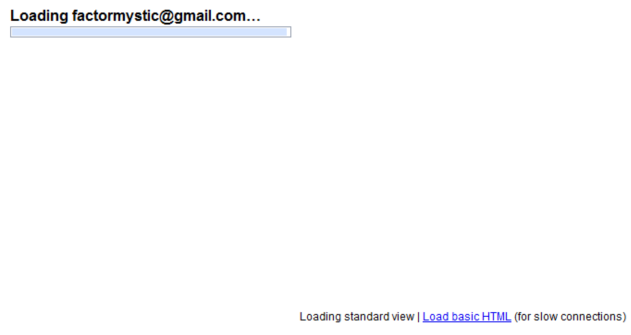 Gmail Loading Screen (Before)