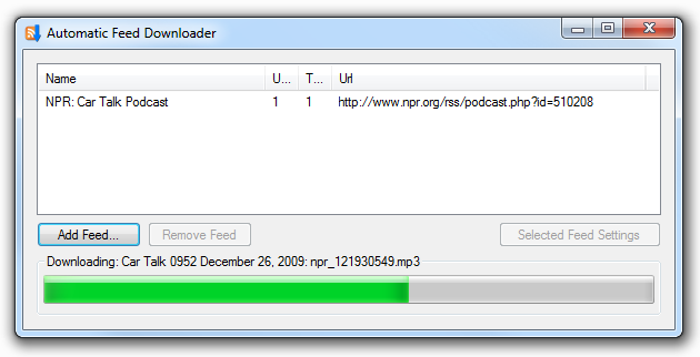 Automatic Feed Downloader